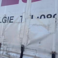 Telone camion tagliato
